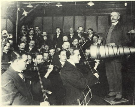 Grabación na BBC con Elgar ( 1912) f.d